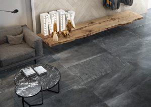Foto 4. Een keramische kalksteen/zandsteen look-a-like die gewonnen wordt in Brittannië