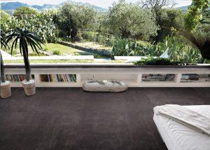 Foto 5. Een sprekende betonlook in donkere kleur.