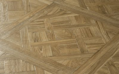 Foto 7. Vierkante houtlook tegel met patroon 75x75.
