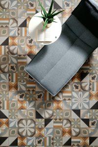 Foto 6. Mooie warme patchwork vloer