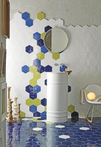 Foto 3. Hexagon wandtegel in heel veel verschillende kleuren te verkrijgen
