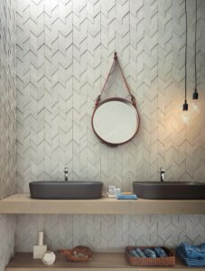 Foto 7. Een rustige maar stoere uitstraling voor in de badkamer