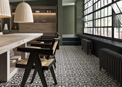 Foto 8. Prachtige keramische patroontegel die dicht bij cementtegels in de buurt komt.