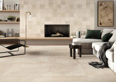 Foto 11. Een keramische hardsteen look met een versleten oppervlakte