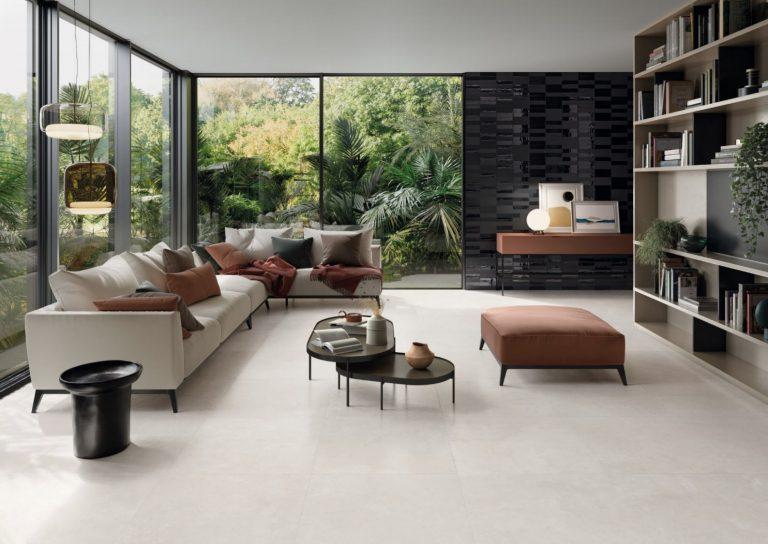 Foto 5. Lichte minimalistische vloertegels 80x8